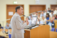 Petr Jehlička delivered keynote address 'East European informal food production and distribution: socially resilient, economically diverse and quietly sustainable' at the IAMO Forum 2019 conference 'Small Farms in Transition: How to Stimulate Inclusive Growth?' held at Leibniz Institute for Agricultural Development in Transition Economies (IAMO) in Halle, Germany on 26 June 2019. Photo: Markus Scholz © IAMO