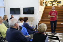 Public lecture about home gardening in cities. Karlovy Vary, Czechia, 15 October 2019.