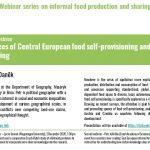 Informal food production and sharing webinars